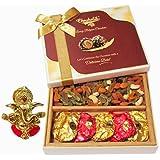 Chocholik Awesome Cocktail Dry Fruit Party & Chocolate Gift Box With Ganesha Idol - Chocholik Dry Fruits