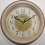 Ajanta (Oreva) Quartz Plastic Round Shape 25 Cm X 25 Cm Fancy Premium Home Decor Wall Clock (Rust) For Home And...