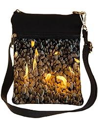 Snoogg Fire Pebble Cross Body Tote Bag / Shoulder Sling Carry Bag