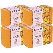Khadi Mauri Lemon Soap Pack Of 4 Ayurvedic Handcrafted Herbal Natural Soaps
