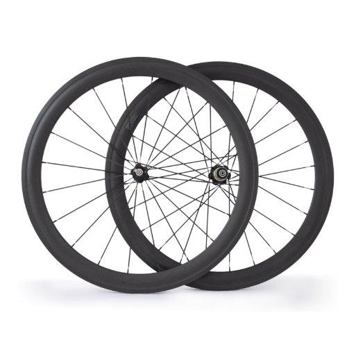 1680G 50mm Clincher Bicycle Wheels 700c Carbon Wheels Racing Road Bike Wheels