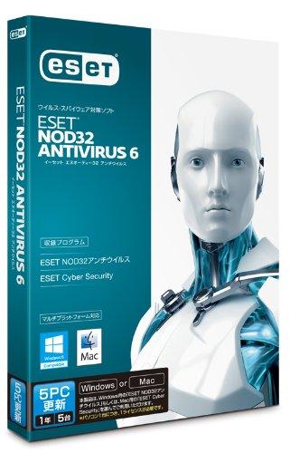 ESET+NOD32アンチウイルス+V6.0+Windows%2FMac対応+5PC更新