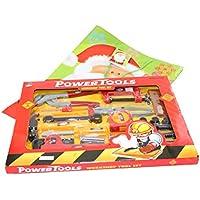 18 Pc Construction Hand Tool Kit Builder Kids DIY Toy In Christmas Gift Bag US Seller
