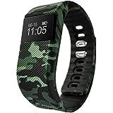 Fbandz ™ Mil64 Fitness Band Smart Health Bracelet Bluetooth Wristband Fashionable Military Fatigue Activity Tracker