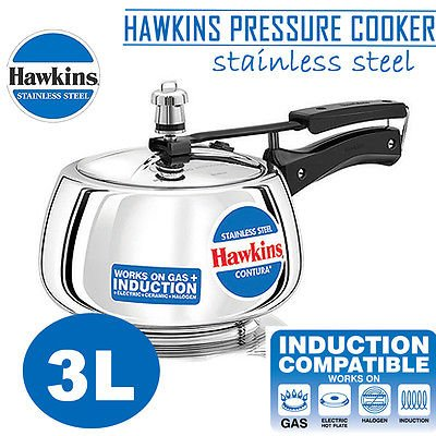b53532bf4 Hawkins Contura Induction Base Stainless Steel Pressure Cooker