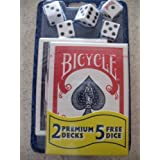 Bicycle 2 Premium Decks Playing Cards Includes 5 Free Dice