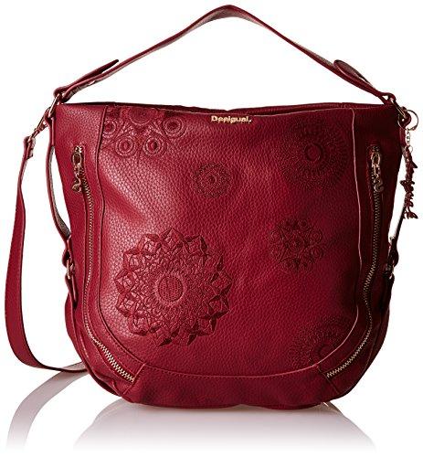 Desigual MARTETA NEW ALEXA, Sacs portés épaule femme - Rouge (3082), 19x34x16 cm (B x H x T)