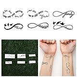 Infinity Symbols Temporary Tattoo Pack (Set Of 12)