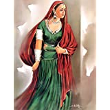 "Dolls Of India ""Rajasthani Woman"" Reprint On Paper - Unframed (44.45 X 34.29 Centimeters)"