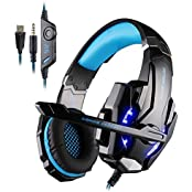 Megadream® KOTION EACH G9000 Over-ear 3.5mm Gaming Headset Headphone With Microphone, Volume Controller And LED...
