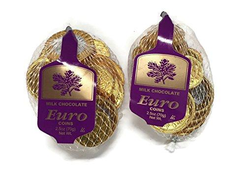 Euro Chocolate Coins, Steenland Milk Chocolate, 2.5 Oz. Bags (Set of 2)