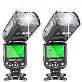 Neewer® Two NW-561 Speedlite Flash With LCD Display For Canon Nikon Panasonic Olympus Fujifilm And Other DSLR...