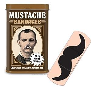 Mustache Adhesive Bandages