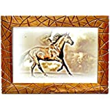 Just Frames Hand Carved Antique Wooden Wall Hanging Photo Frame | Size : 8 X 12 Inch | Product Code : JF104-4