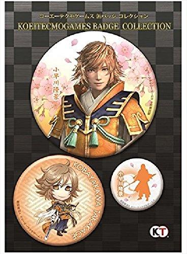 Sengoku Musou4 Tin Badge Collection 3Piece Set Kobayakawa Takakage Game Goods