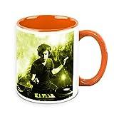 HomeSoGood DJ Playing Rocking Music White Ceramic Coffee Mug - 325 Ml