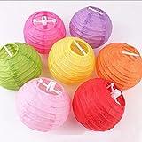 Generic Orange : 4 Inch 10cm Round Chinese Paper Lantern Balls For Decoration Festive & Party Supplies Wedding...