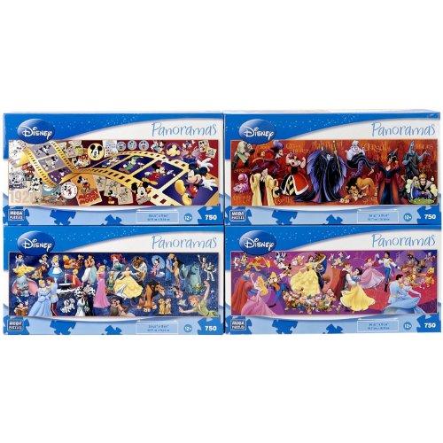 The Disney Panoramas Four Puzzles Set -