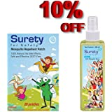 Herbal Mosquito Repellent Patch (20) + Herbal Anti Mosquito Spray 100ml