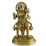 "Valentines Decorations RoyaltyLane Brass Statue Of Lord Hanuman - Decorative Monkey God Idol - 6.2"" X 4"" X 2.9"""