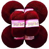 Vardhman Acrylic Knitting Wool, Pack Of 6 (Mehroon) (Pack Of 10)