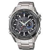 Casio EQS-500DB-1A1ER Edifice- Reloj de caballero de cuarzo, correa de acero inoxidable, color plata
