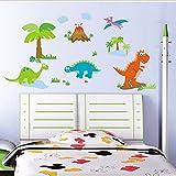 B&Y Decorative Peel Vinyl Wall Sticker Kids Baby Rooms Nursery Removable Decals - Dinosaur Family