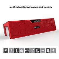 Portable Wireless Bluetooth Stereo Speaker With 2 X 5W Speaker Enhanced Bass Resonator FM Radio Built-in Mic LED... - B00XJBAJFI