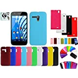 MJR COMBO Of Samsung Galaxy Grand Prime SM-G530H Back Cover And Screen Guard - Colours May Vary