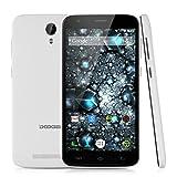 "Doogee Valencia2 Y100 Plus - Smartphone Movil Libre Android Lte 4G (5.5"" Pantalla Hd Ips, Quad Core, Dual Sim, 2G Ram 16G Rom, 8Mp Camara, Smart Wake, HotKnot, Ota), Blanco"