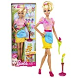 """Mattel Year 2012 Barbie """"I Can Be"""" Series 12 Inch Doll Set - Barbie As FLORAL DESIGNER (Y7485) With"""