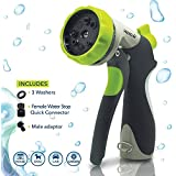 Hidro2O High Pressure Spray Nozzle, Ideal For Gardening, Watering Plants And Lawns, Dogs And Pet Cleaning, 8 Pattern...