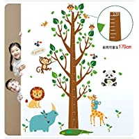 Oren Empower Multicolor Height Chart Jungle Theme Wall Sticker For Kids Room