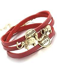 Hot And Bold Delightful Gold Plated Multilayered Elephant & Good Luck Chram Bangles & Bracelets For Women & Men...