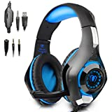 Beexcellent Gaming Headset With Mic For PlayStation 4 PS4 PC Laptop Tablet Mobile Phones Blue