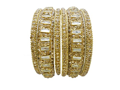 Antique Gold Plated Wedding Bangles Set By My Design(size-2.8)