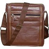 Style98 100% Genuine Leather Crossbody Messenger Tablet Bag||Handbag||Hard Disk Bag||Neck Pouch||Shoulder Bag For Men,Women,Boys & Girls