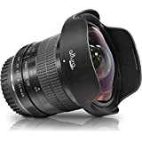 Altura Photo 8mm F/3.0 Fisheye Lens For CANON DSLR AP-8MC Professional Ultra Wide Angle Aspherical Fixed Lens With Removeable Lens Hood And Protective Carry Case