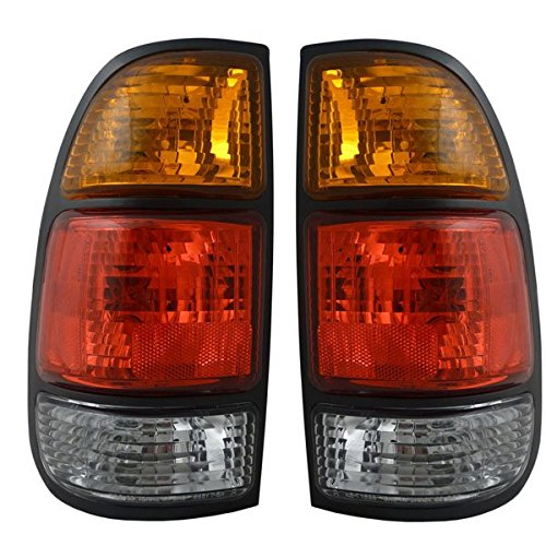 2000-2004 Toyota Tundra Pickup Truck Standard Bed (without double cab or step-side bed) Taillight Taillamp Rear Brake Tail Light Lamp Pair Set Right Passenger AND Left Driver Side (2000 00 2001 01 2002 02 2003 03 2004 04)