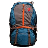 Gleam 2209 Climate Proof Rucksack / Hiking / Trekking Bag / Backpack 60 Ltrs Sky Blue & Grey With Laptop Sleeve...