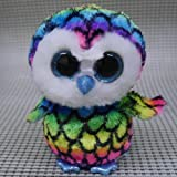 Nicky's Gift Beanies Boos Aria Owl 6 Glitter Eyes Stuffed Toy Missing Tags Please Read