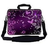 Meffort Inc 17 17.3 Inch Neoprene Laptop Bag Sleeve With Extra Side Pocket Soft Carrying Handle & Removable Shoulder...