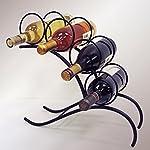 J&J Wire 4-Bottle Wine Rack