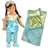 18 Inch Doll Pajamas & Doll Bedding 6 Pc. Gift Set By Sophias, Doll PJs & Sleeping Bag Fits 18 Inch