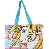 Jute Hunt FEB004-TEAL BLUE Women Jute Bag (TEAL BLUE, FEB004-TEAL BLUE)
