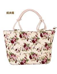 Cheap Canvas Women Handbags Floral Printing Women Causual Tote Bags Bolsas All-match Portable Vintage Shoulder...