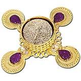 Super Drool Gold And Purple Stone Embellished Diya