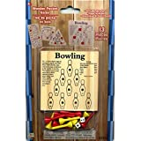 13 Piece Bowling Wooden Pocket Game 6 X 9""