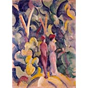 Tallenge - August Macke - Couple On The Forest Track - Unframed Rolled A3 Size Poster (11.6x16.5 Inches)