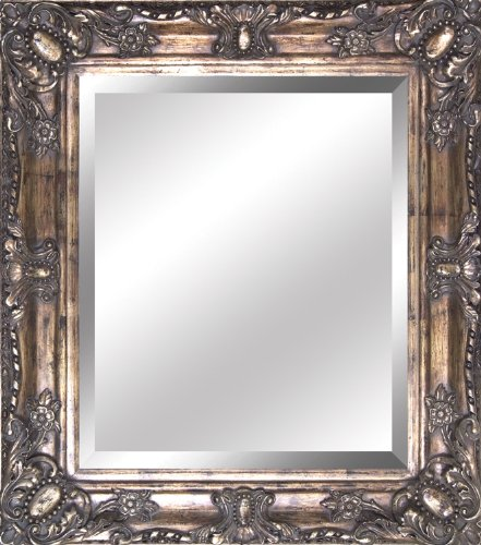 Yosemite Home Antique Wood Resin Framed Wall Mirror